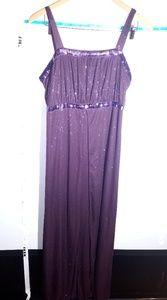 Dresses & Skirts - Nwt Long Purple Glittered Goddess Gown